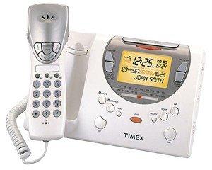 TIMEX T489W AM/FM ALARM CLOCK RADIO/PHONE w/TALKING CID, and NATURE SOUNDS
