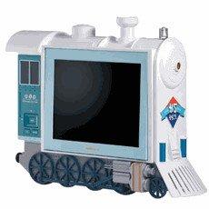 "Hannspree STEAMLOC Steam Locomotive 9.6"" LCD TV"