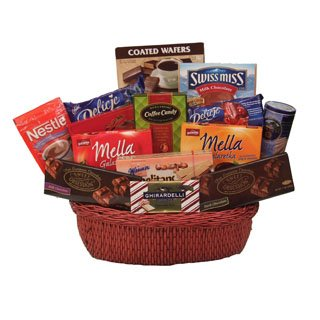 European Chocolate Luxuries  Sweet Gift Basket