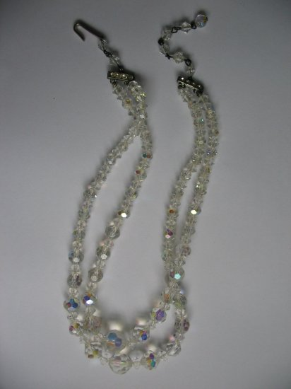 DOUBLE STRAND CLEAR AURORA NECKLACE