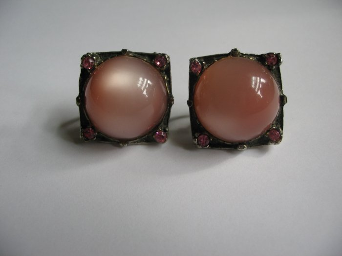 MAUVE SQUARE EARRINGS