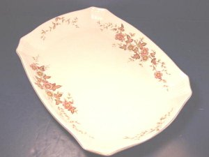 VINTAGE RIDGWAYS BALMORAL CHINA SERVING PLATTER ROYAL SEMI PORCELAIN BIG RIDGWAY ENGLAND IRONSTONE