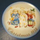 1978 HEAVENLY TRIO HUMMEL CHRISTMAS PLATE SISTER BERTA PORCELAIN CHINA SCHMID ANGELS BOX GERMANY