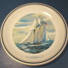 1977 YACHT AMERICA AMERICA'S CUP PORCELAIN PLATE NEW YORK YACHT CLUB SAIL BOAT SHIP WEDGWOOD, BOX