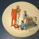 NORMAN ROCKWELL FALL CHILLY RECEPTION 1978 GORHAM PORCELAIN PLATE FOUR SEASONS TENDER YEARS