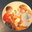 CAUGHT IN THE ACT HEAVENLY ANGELS PORCELAIN PLATE DANBURY MINT ANGEL CHERUB 1991 MAGO ARTAFFECTS BOX