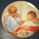 SLEEPY SENTINEL DANBURY MINT MAGO ANGEL PORCELAIN PLATE HEAVENLY ANGELS CHERUB 1991 ARTAFFECTS BOX