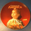 1988 CHRISTMAS IN AMERICA PORCELAIN CHINA COLLECTOR PLATE KMART CHILD LIGHTS PHOTO BY ROBIN HOOD