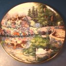Stonebridge Cottage plate Franklin Mint Violet Schwenig porcelain china Heirloom Recommendation