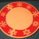 Royal Norfolk Snowflake Christmas china dinner plate red white porcelain Greenbrier International