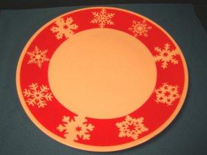 Royal Norfolk Snowflake Christmas china dinner plate red white porcelain Greenbrier International