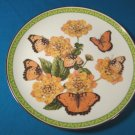 Butterflies of the World plate Gaudy Commodore 1983 porcelain china John Wilkinson orange butterfly