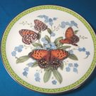 Regal Fritillary orange butterfly plate Butterflies of the World 1983 porcelain china John Wilkinson