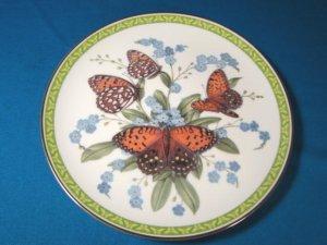 Regal Fritillary orange butterfly plate Butterflies of the World 1983 porcelain china John Wilkinson