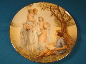 I Love to Hear the Story 1989 china plate Cicely Mary Barker Beloved Hymns of Childhood W. S. George