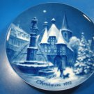 Christmas Eve in Michelstadt Genuine Blue China Berlin design plate German 1972 West Germany