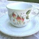 Mikasa Laurel C3002 Strawberry Fields China Cup &  Saucer