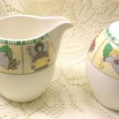 Vintage Mikasa Sugar & Creamer Angelica Y4007 Optima China