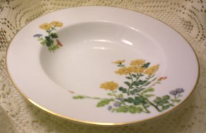 Vintage Noritake China Sandra Rimmed Soup Bowl 8 inches