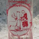 Vintage North Pole Colorado Santa Claus Souvenir Glass Tumbler