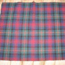 Bold Green and Red Plaid Fat Eighth *100% Wool* Rug Hooking Penny Rug  FiveOaksFarm