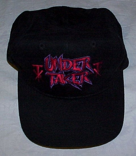 WWF UNDERTAKER World Wrestling Federation Black Baseball Cap Hat