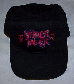 WWF UNDERTAKER World Wrestling Federation Black Baseball Cap Hat