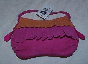 BABY GAP Deep Pink Girls Suede Leather Fringe Purse Bag
