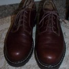 Women's PRIMA ROYALE Uni-Trend Brown Leather Lace-Up Shoes Size 8.5 (8 1/2)