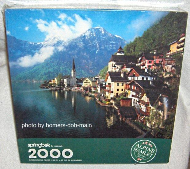 SOLD Alpine Hamlet 2000 Piece Springbok Jigsaw Puzzle NEW SEALED Hallstatt Austria Hallmark