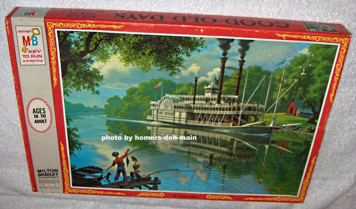SOLD Good Old Days Series 500 Piece Jigsaw Puzzle Bygone Days 4181-8 Paul Detlefsen SEALED 1970