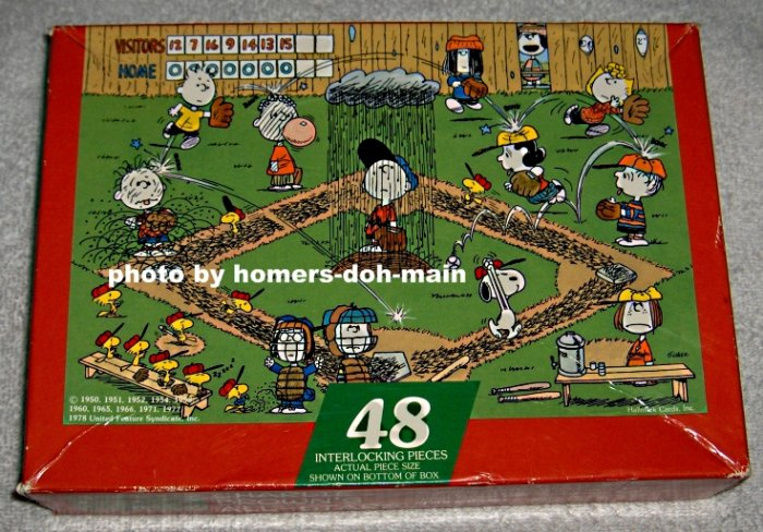 FOR SALE  Charlie Brown's All-Stars 48 Piece Jigsaw Puzzle - Springbok - COMPLETE - Snoopy - Peanuts