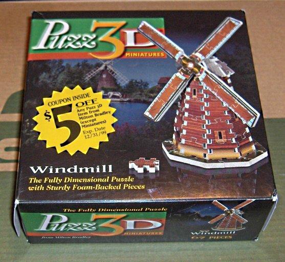 SOLD Puzz-3D Miniatures Windmill Puzzle Wrebbit COMPLETE Puzz3D - Puzz 3D