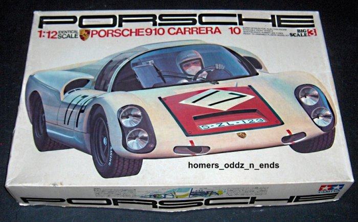 FOR SALE - Vintage Porsche 910 Carrera 10 Model Kit - Tamiya - 1:12 Scale - Unbuilt