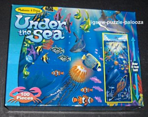 Melissa &amp; Doug Floor Puzzle Lot Under the Sea ABC Train (2 different) ALL COMPLETE