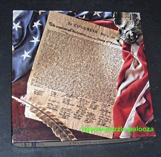 SOLD Springbok 500 Piece Jigsaw Puzzle Words of Freedom PZL2442 Declaration of Independence COMPLETE