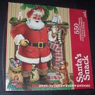 Gibson 550 Piece Jigsaw Puzzle Santa's Snack Santa Claus Christmas COMPLETE