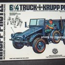 Tamiya 6x4 Truck Krupp Protze 1:35 Scale Plastic Model Kit MM-204A COMPLETE