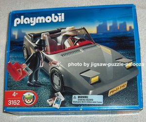 Playmobil 3162 Getaway Car with Gangster Figures Get Away Geobra Police Theme 2002