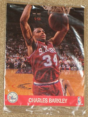 NBA HOOPS 8x10 Action Photo - Charles Barkley - 76ers - SEALED