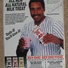 Dave Winfield Original Newspaper Ad - Nature's Milk Treat - New York Yankees - 1989