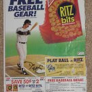Don Mattingly Original Newspaper Ad - Ritz Crackers - New York Yankees - 1989