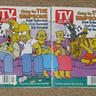 Crazy for The Simpsons - TV Guide Magazine - Complete Set of Four - Couch Scene - 1998