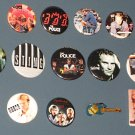 Lot of 16 Different Sting / The Police Buttons - Badges - Pins - Gordon Matthew Sumner