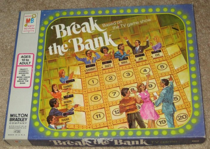 sold vintage break the bank tv game milton bradley 4720. Black Bedroom Furniture Sets. Home Design Ideas