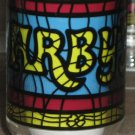 Arbys Restaurants Stained Glass Design Drinking Glasses / Tumblers - Lot of 7