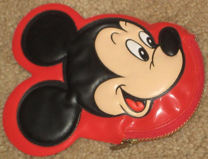 Mickey Mouse Squeaking Coin / Change Purse - Zipper - Vinyl - Disney