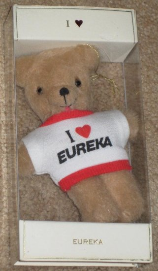 I Love Eureka Plush Teddy Bear - No Dirt - Vacuum Cleaner