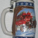 Budweiser Stein Lot 1995 Signature Lidded Edition Holiday Lighting the Way Home Clydesdales + 1987