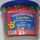 Learning Resources Three Bear Family Counters + Kangaroos - Over 175 - Counting - Sorting - LER 0744